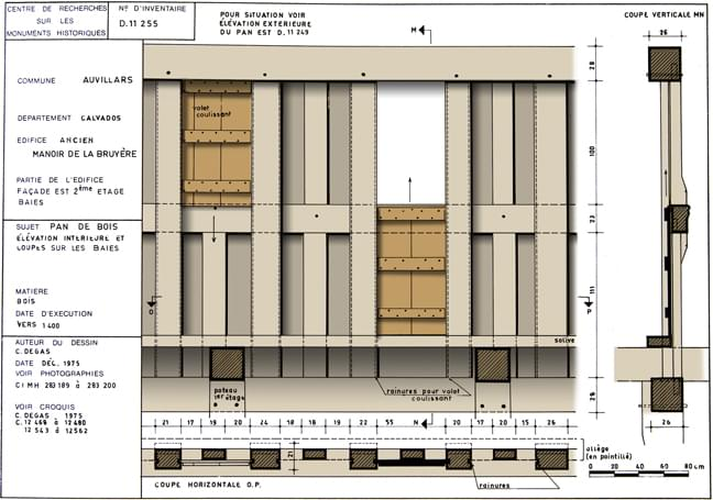 Measured drawing of the shutters