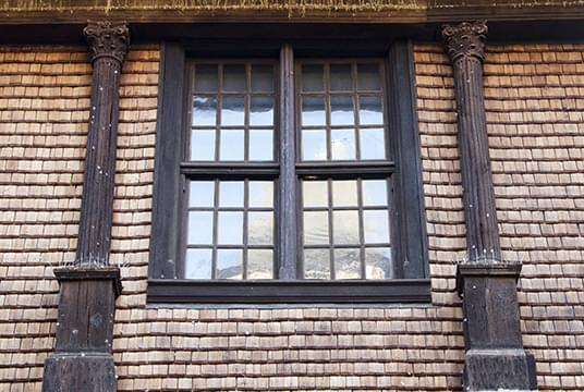 Typical first floor window